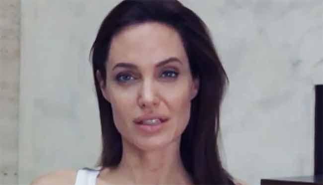 Angelina Jolie con la varicella saluta la promozione di Unbroken