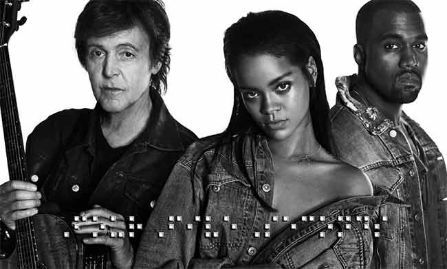 Rihanna stupisce con Paul McCartney e Kanye West