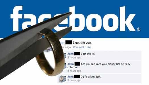 Facebook il divorzio che arriva sul social