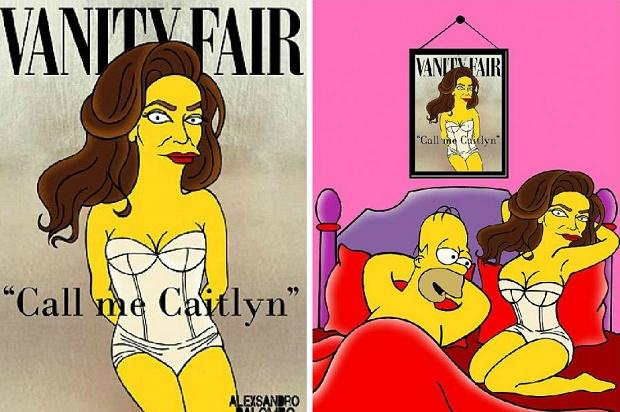 Homer Simpson si fa sedurre da Caitlyn per i diritti transgender