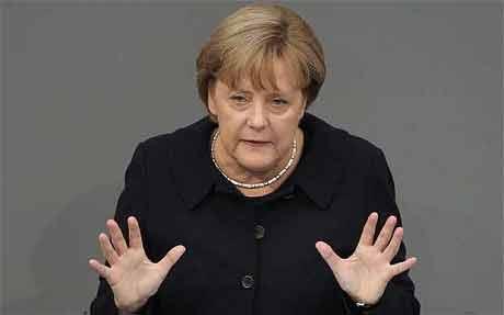 Pacco sospetto ufficio di Angela Merkel