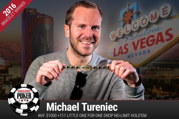 Michael Tureniec vince $1000 +111 Little One for One Drop No-Limit Hold'em