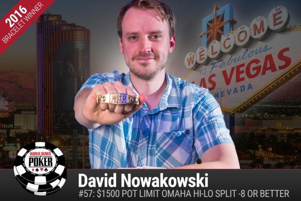 WSOP 2016, David Nowakowski colpo grosso con vittoria evento 57